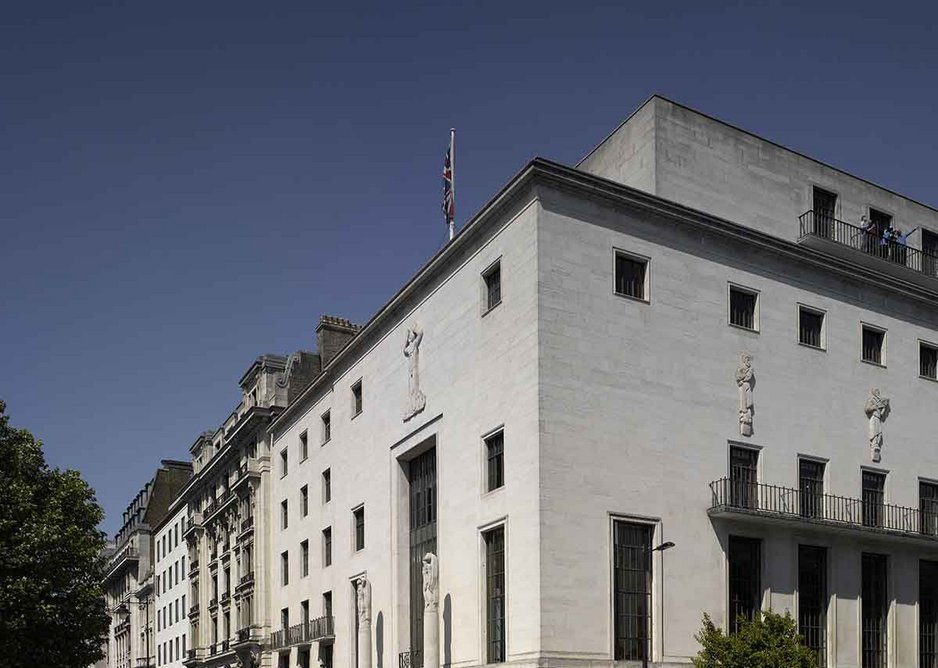 The RIBA's 66 Portland Place designed by George Grey Wornum in the thirties.