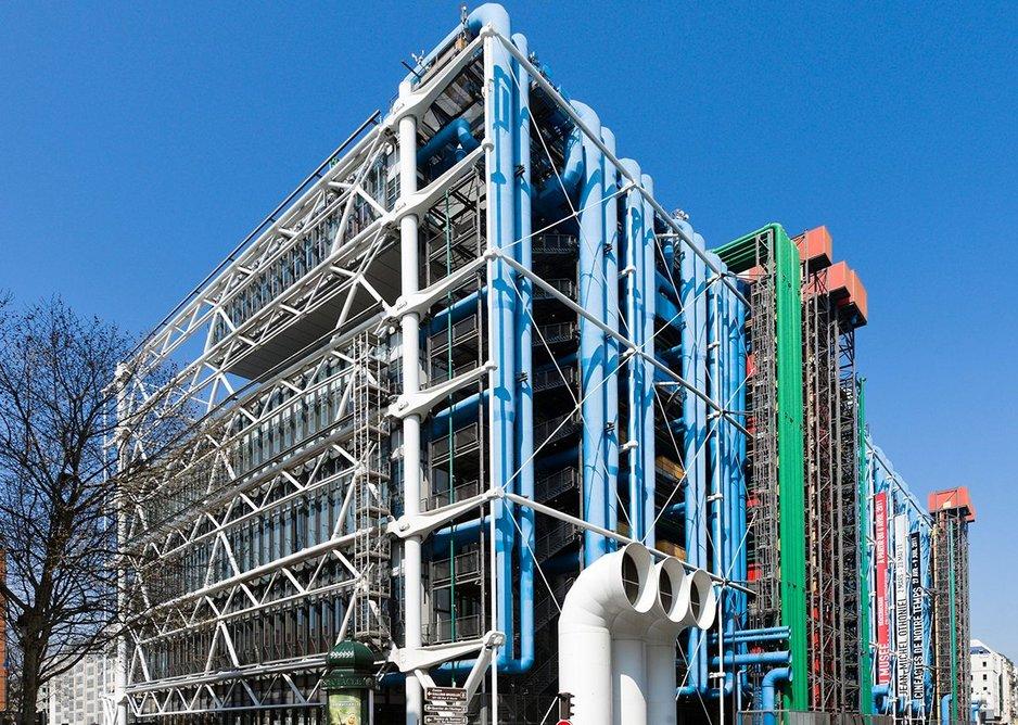 Exterior view of Centre Pompidou Paris France
