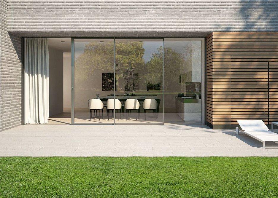 New triple-glazed sliding doors from Schueco offer enhanced thermal performance.