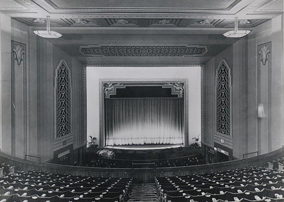 Old theatre interior.