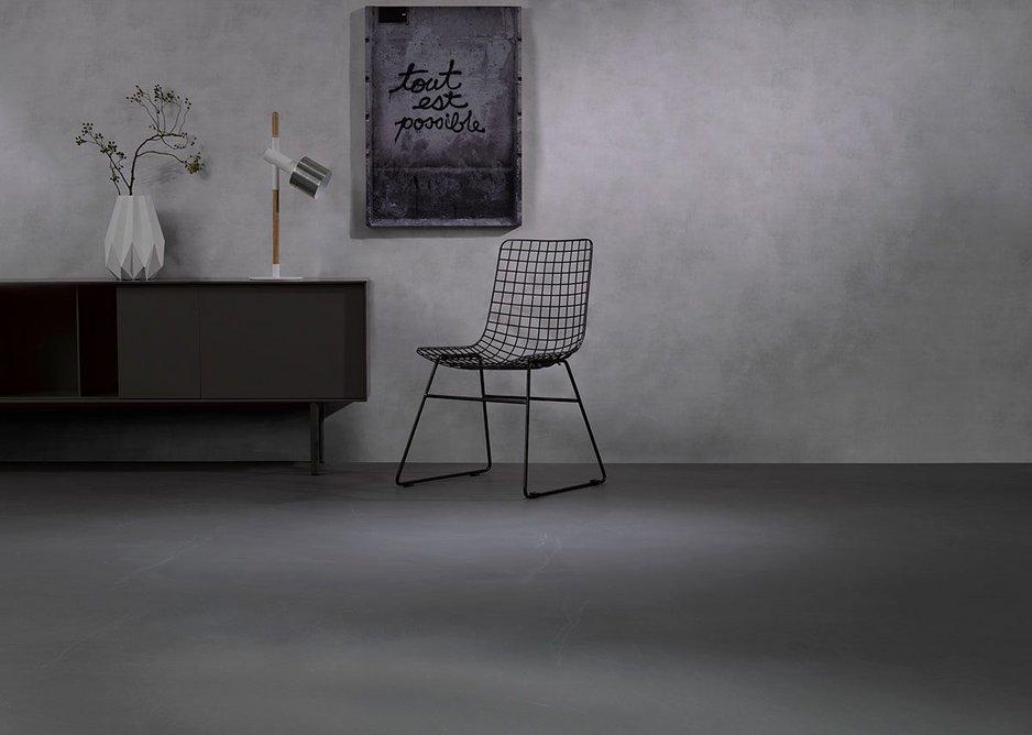 Arturo Concreta cementitious flooring: Decorative microcements can produce rich colour tones and a rustic finish.