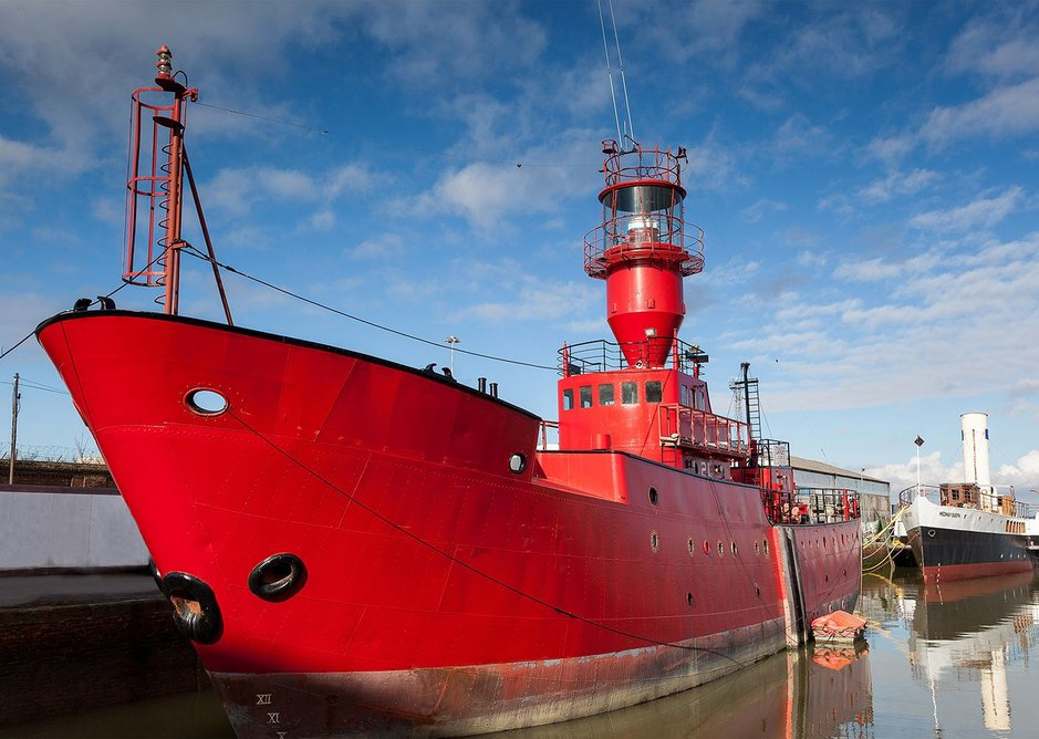 LV21 lightship. Built in 1963, the vessel is now an arts venue and is part of Estuary 2016.