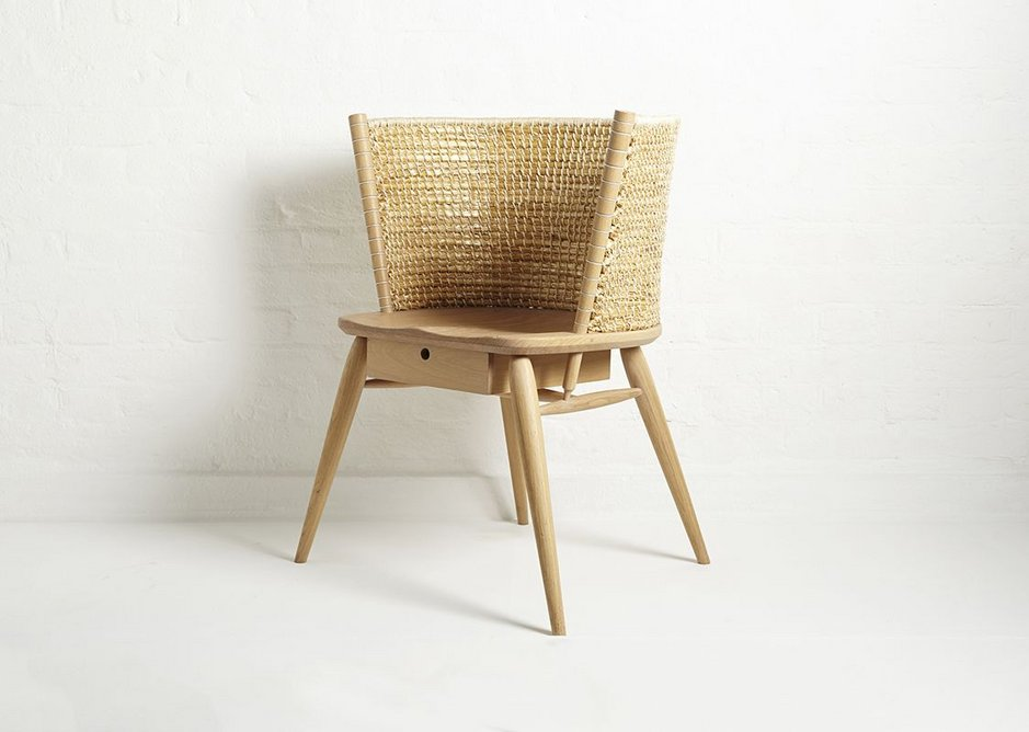 Brodgar chair, an oak and straw 2013 reinvention of the Windsor chair by Kevin Gauld and Gareth Neal.