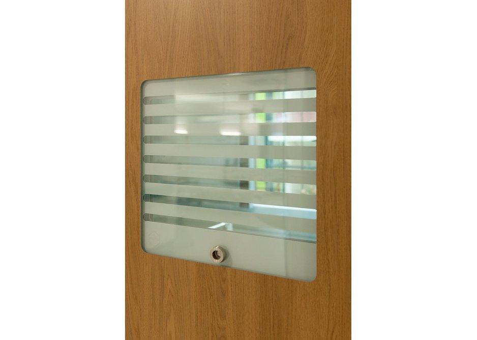 Hygiglaze flush-glazing creates a clean finish around the vision panel