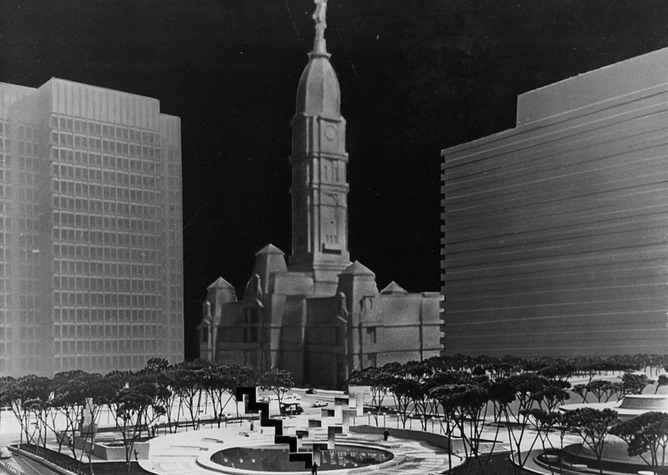 Joint Richard Meier and Frank Stella competition entry for a fountain in Philadelphia, 1963. Courtesy Richard Meier & Partners Architects.