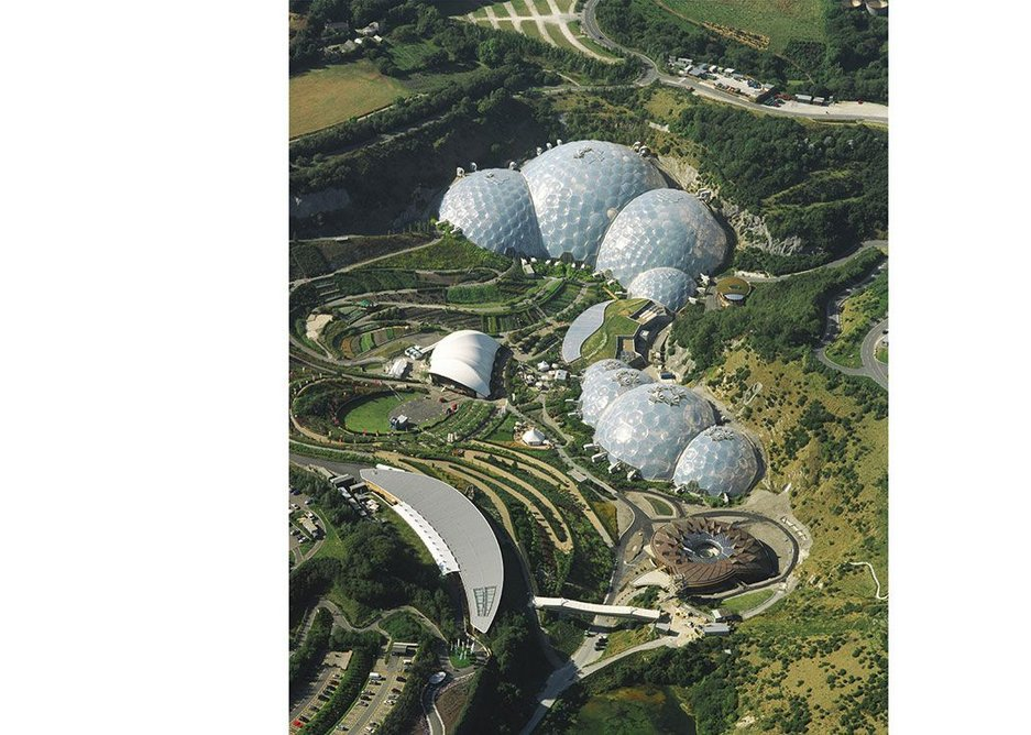 The mythic bubble biomes of the Eden Project in Cornwall. Grimshaw Architects.