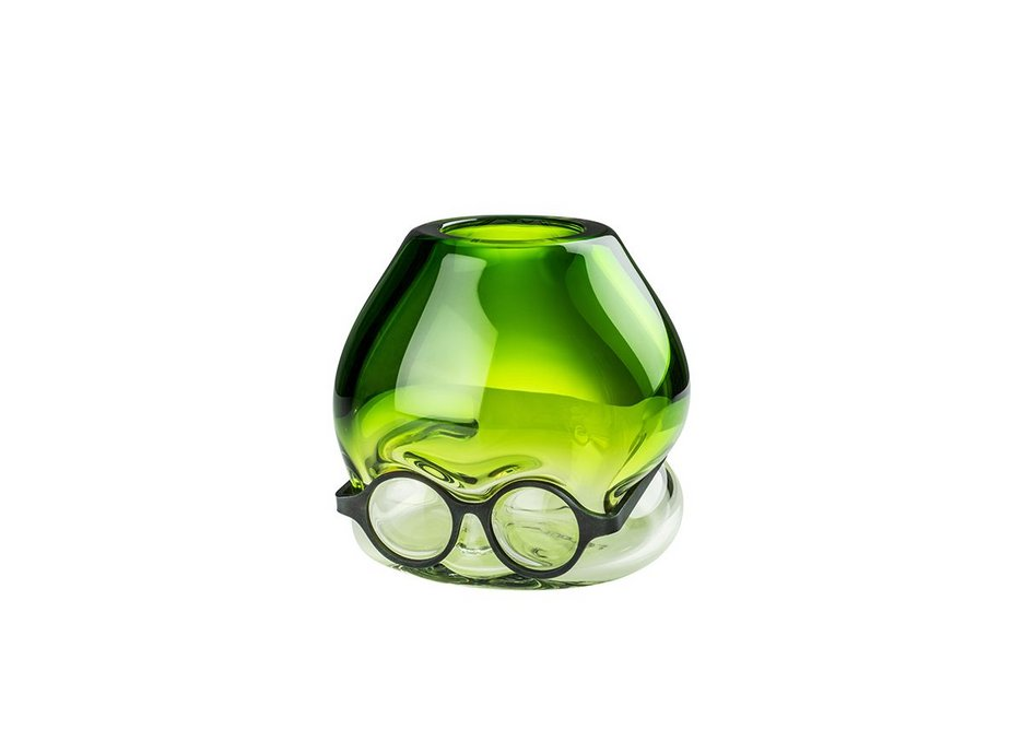 Where are my Glasses – Under (Green) by Ron Arad. Hand-blown glass and metal.
