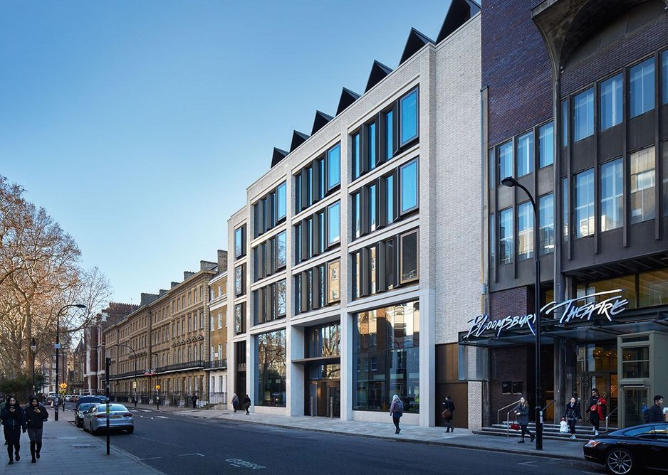 The Gordon Street elevation doesn't prepare visitors for the architectural excitement within.