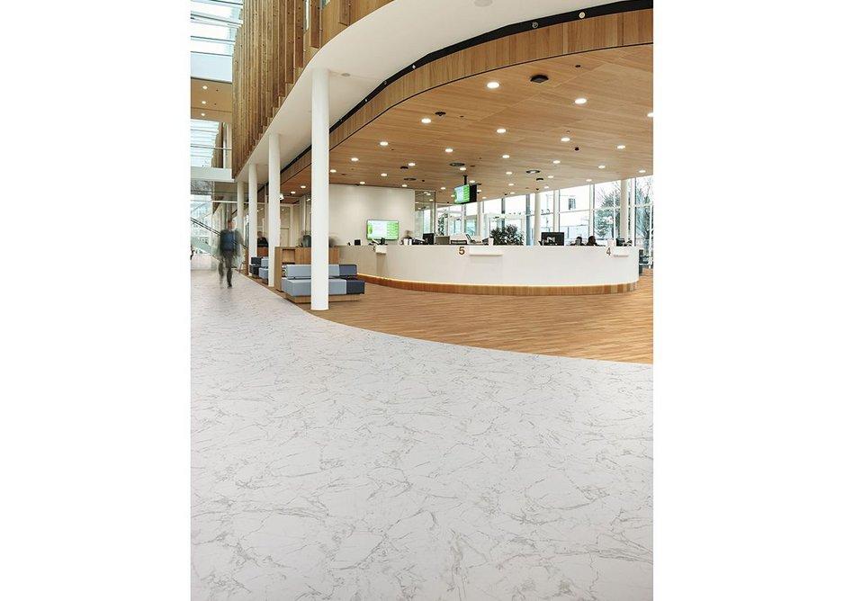 Eternal Material vinyl flooring in White Marble 11442.