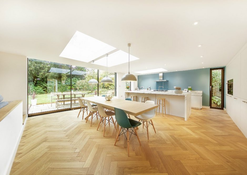 The Flushglaze is a minimalist fixed rooflight with frameless internal views designed to maximise daylight.