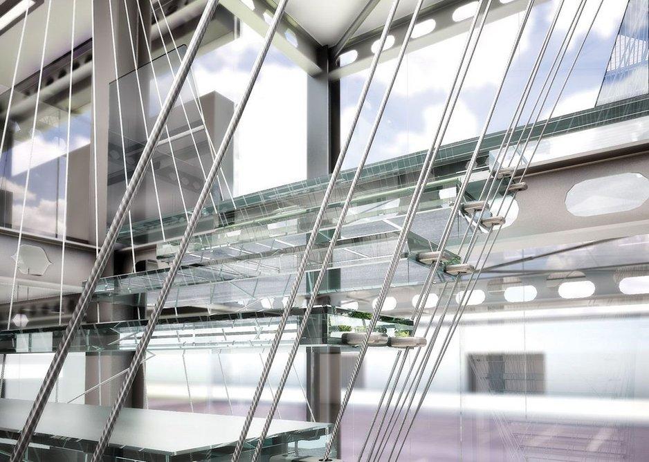 1992: Aluminium stair, London, UK.
