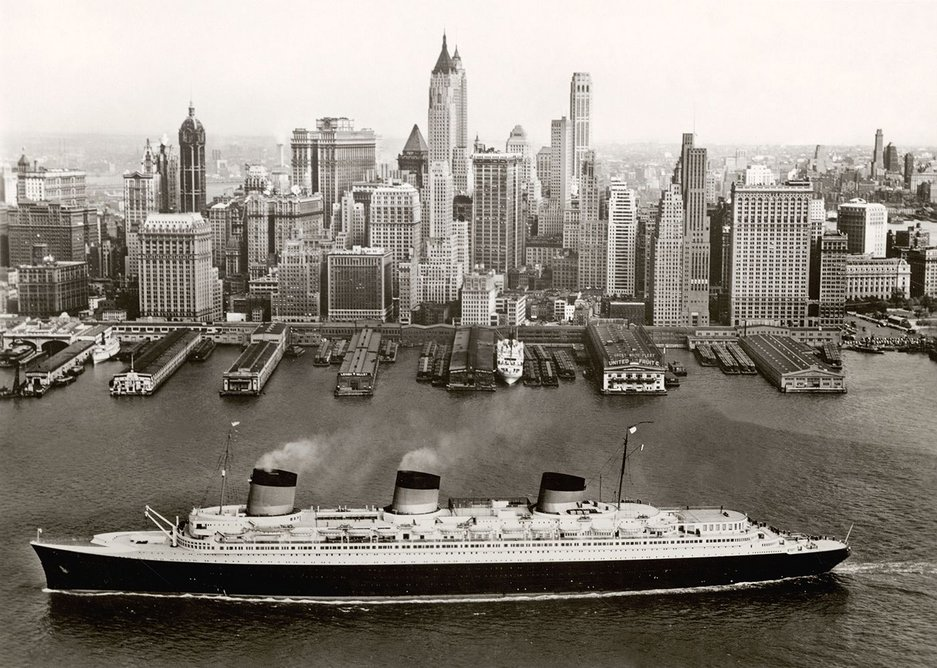 Normandie in New York 1935-39, Collection French Lines, from the V&A exhibition Ocean Liners: Speed and Style, 3 February - 17 June 2018.