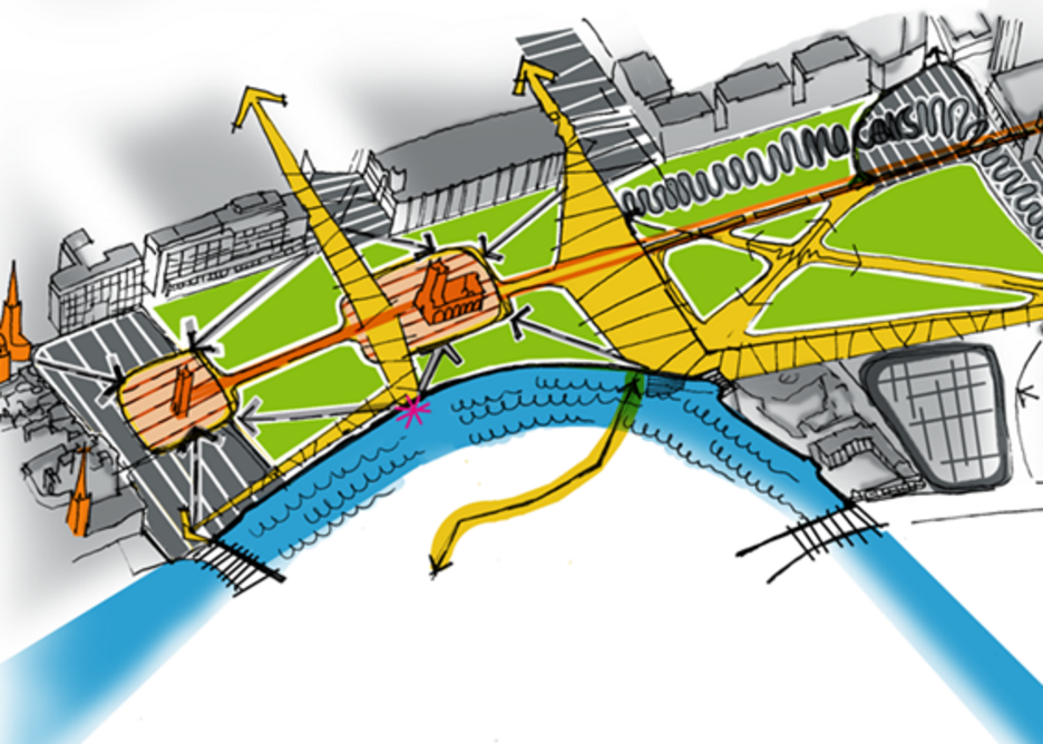 Arup's provocations for Bristol's Castle Park: Linked zones with spaces for different user groups