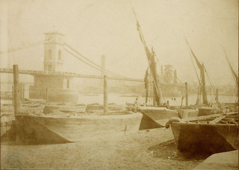 William Henry Fox Talbot – Old Hungerford Bridge, c1845.