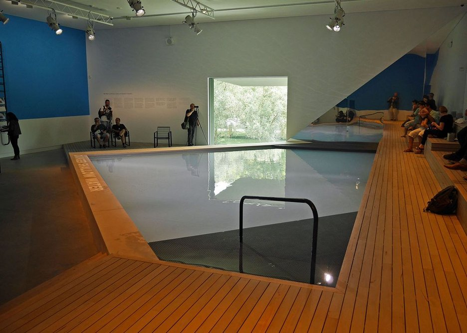 ...but inside there is just this swimming pool.