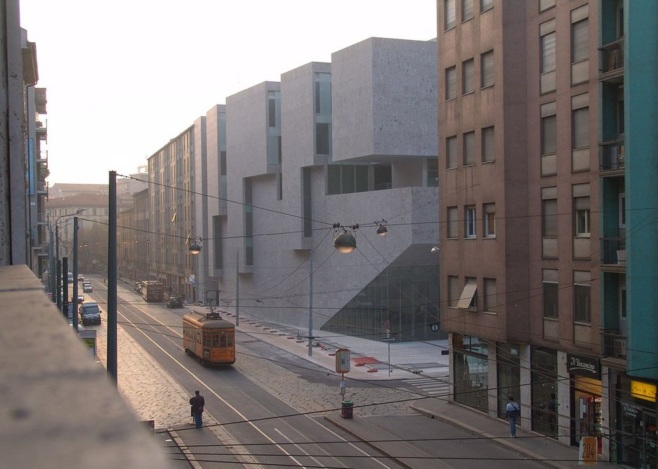The Bocconi building – 'erupting out of the ground'.