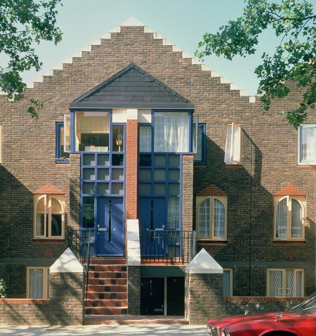 St Mark's Road housing, London, 1979, Jeremy Dixon with Fenella Dixon. Photo: Martin Charles
