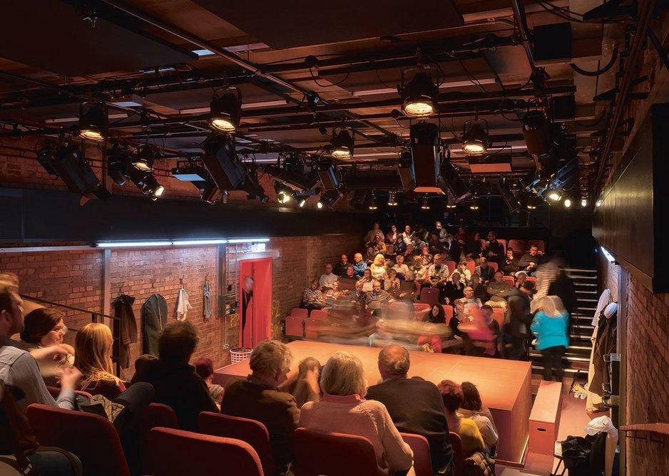 The new studio theatre,  the Bramall Rock Void.