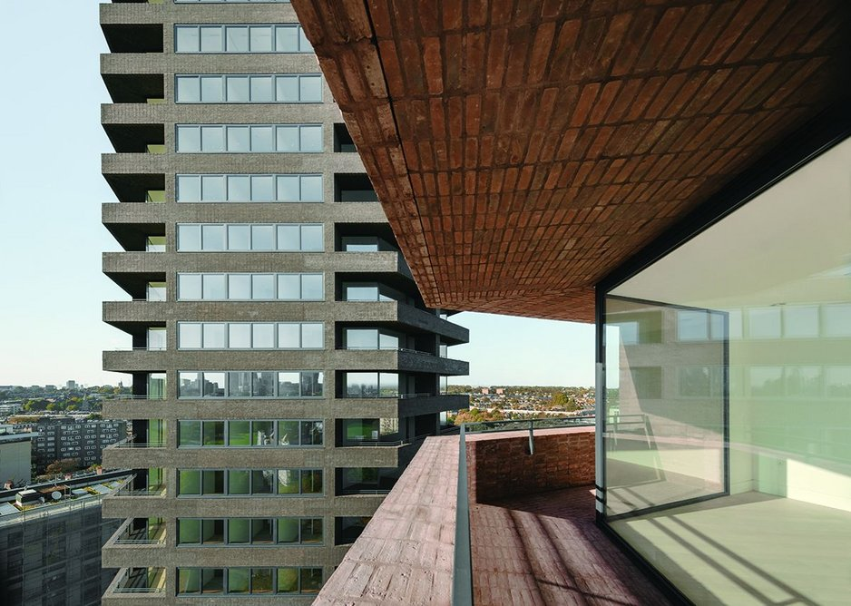 Relationship between the towers is angled to reduce overlooking.