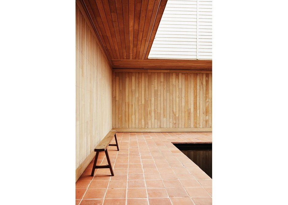 The tranquil courtyard is the inner sanctum of the house.