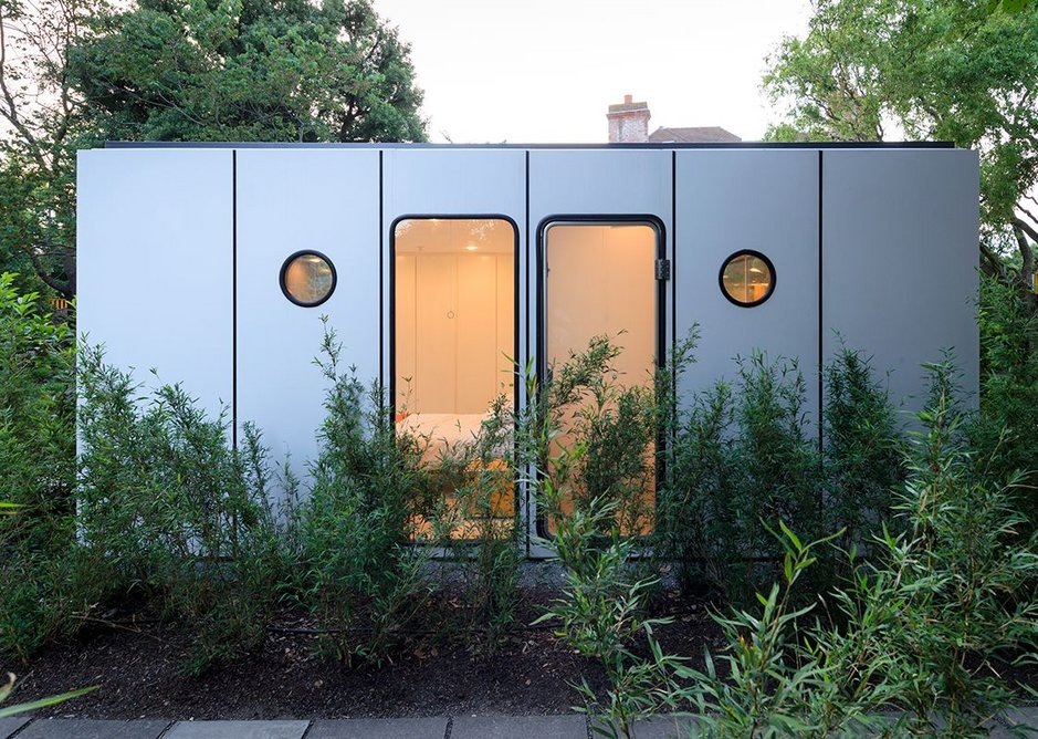 Richard Rogers's Wimbledon House lodge, which will house two students on residencies. Photograph by Iwan Baan.