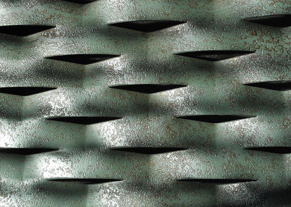 Meshtec Ambasciata architectural aluminium with Musical Waterfall finish.