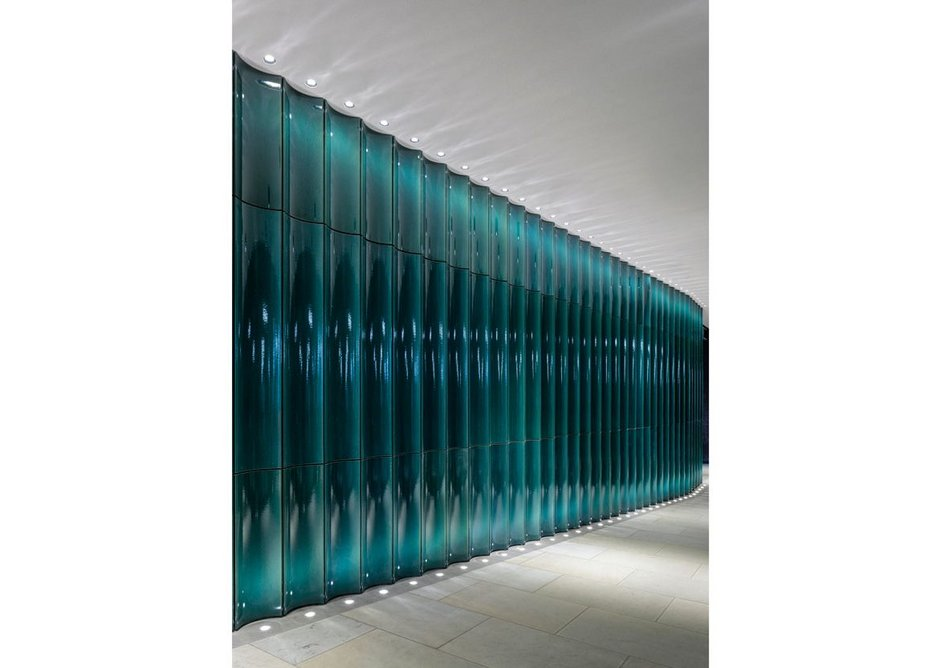 The rippling wall has a calming effect.