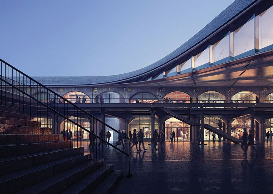 Serrated glass panels characterise the new elevation, created as the roof peels up and away.