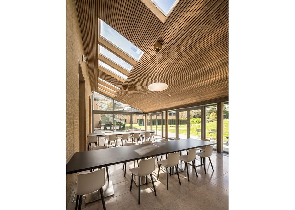 Conservation Rooflights feature white internal linings that sit flush to the reveal.