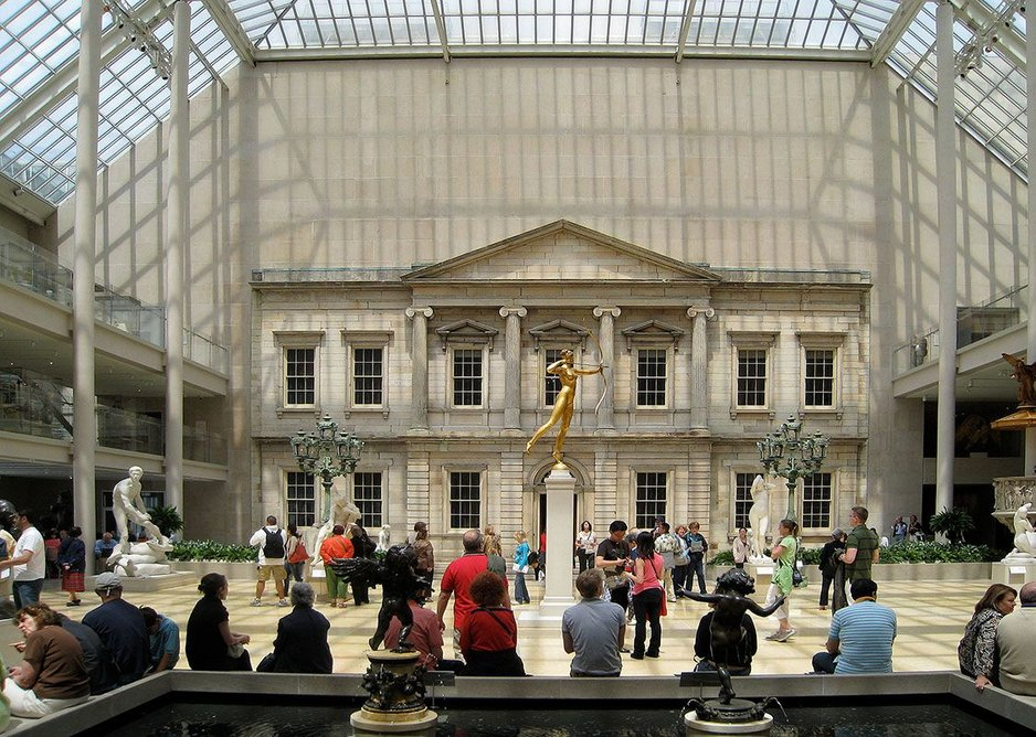 The American Wing at the Metropolitan Museum, New York City.  Roche was effectvely the house architect for every Met project. Credit: KRJDA