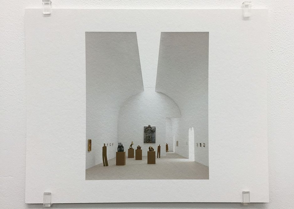 Caruso St John, Museo Diocesano, Milan (2007), 2017, photograph, 16.8 x 21 cm, edition of 7.