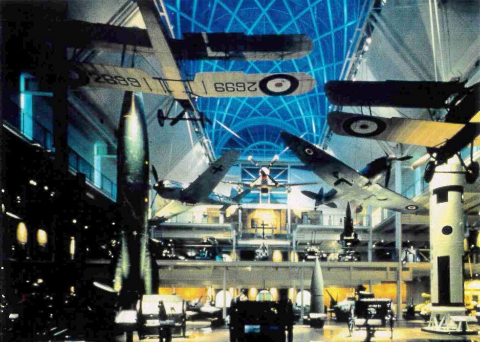 The Imperial War Museum atrium exhibition as designed by Dangerfield.