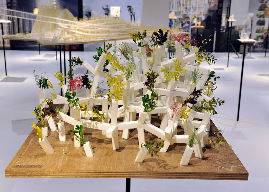 Sou Fujimoto's Tree Building from Futures of the Future at Japan House London