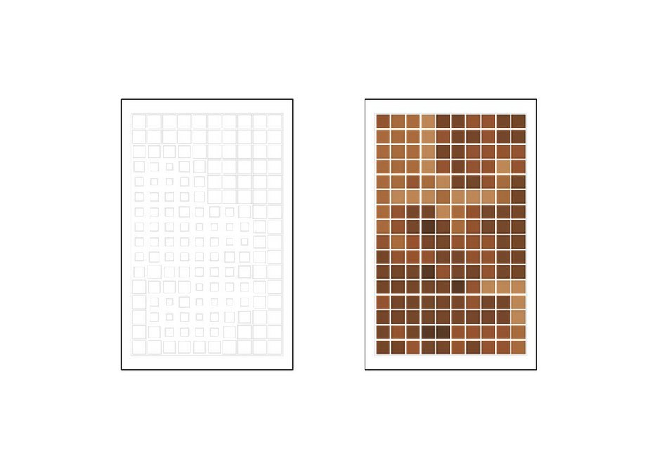 Peter Randall-Page's concept design for the precast concrete and terracotta panels.