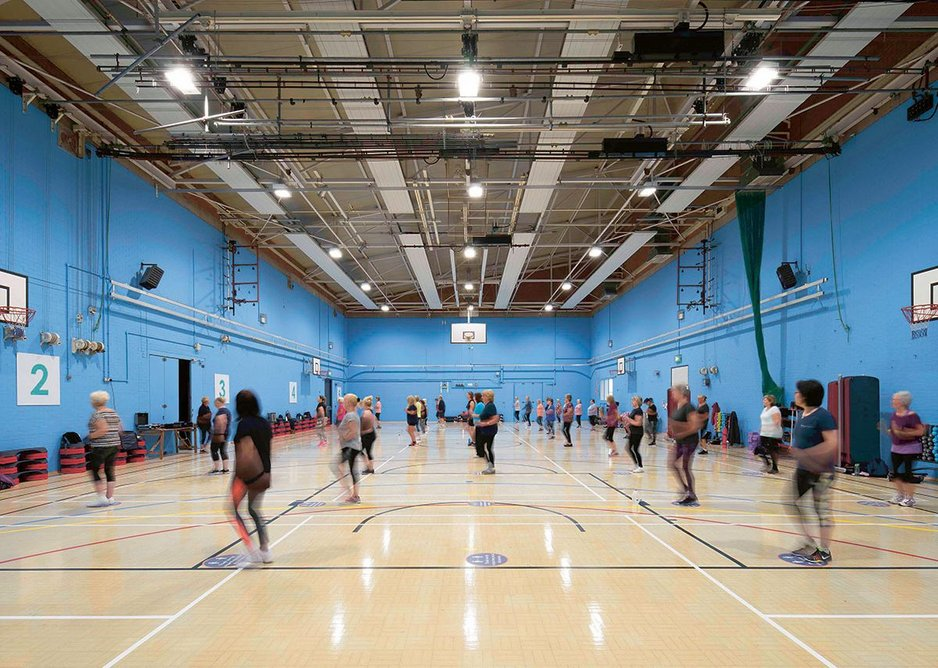 Insulating the roof of the sports hall has reduced overheating problems.