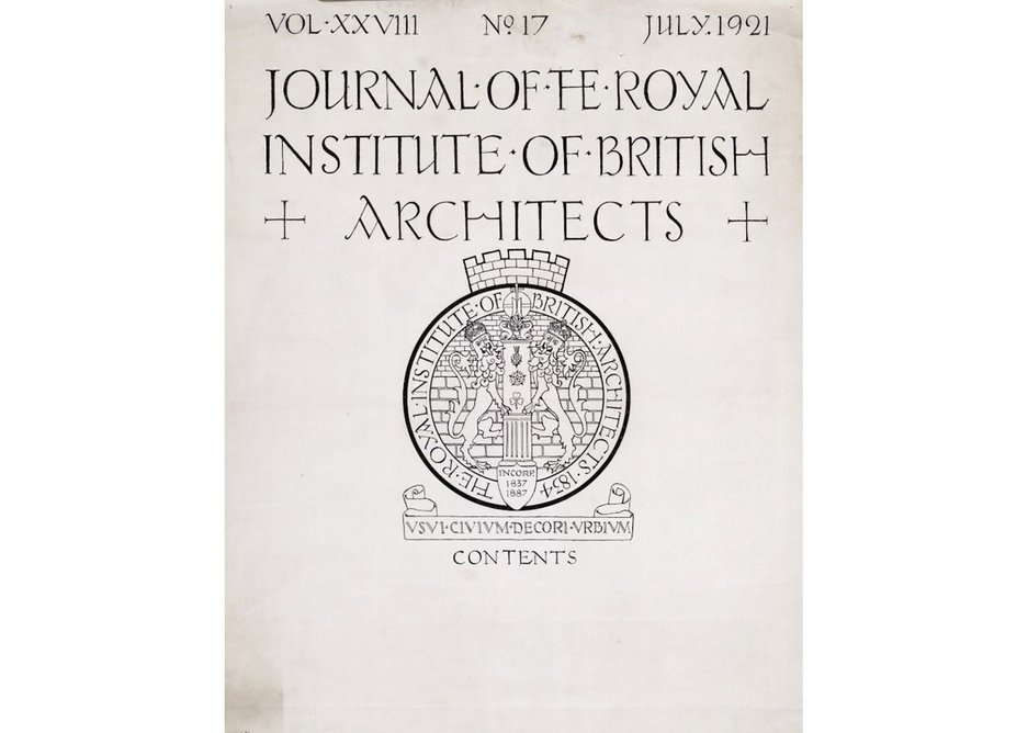 1921 cover designed by CFA Voysey.