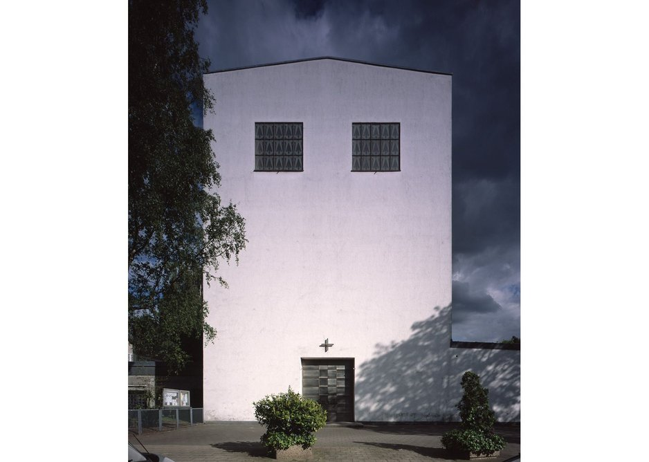 St Fronleichnam, Aachen, 1928-1930, north west facade. More influenced by early European modernism than were later works.