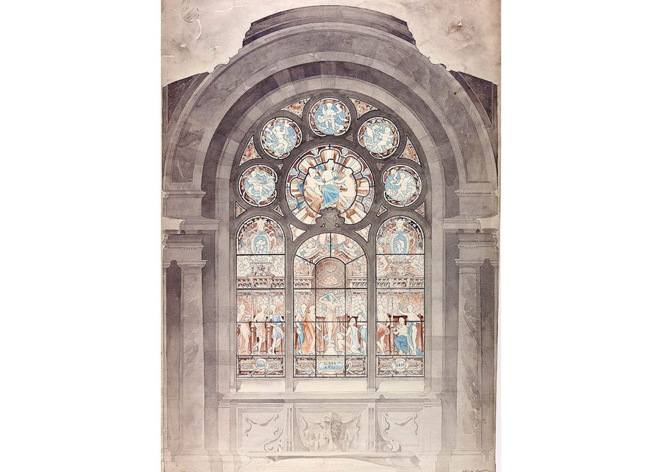 Design for a stained glass window 1894-5.