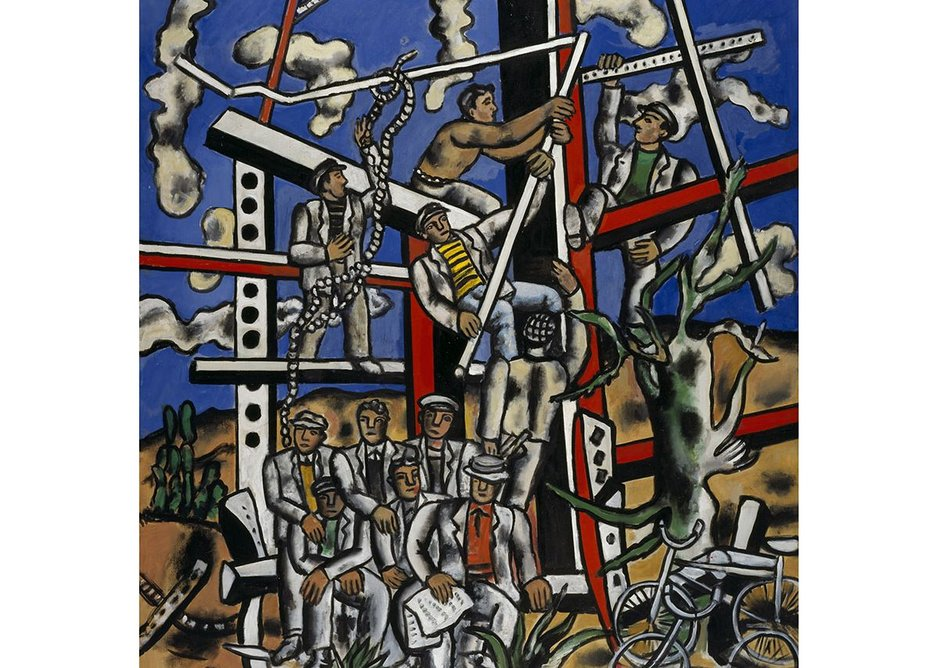 Study for 'The Constructors': The Team at Rest (Étude pour 'Les Constructeurs': L'Équipe au repos) 1950 by Fernand Léger, 1881-1955. Scottish National Gallery of Modern Art, Edinburgh. Purchased 1984.