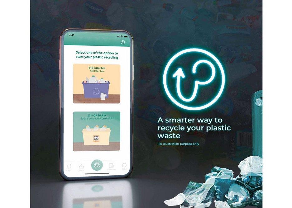The prototype UPlastic app.