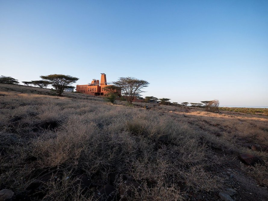 The Campus creates the sense of an oasis in the dry Turkana desert.