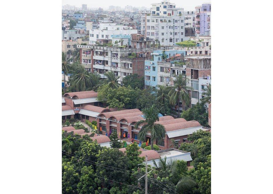 SOS Youth Village and Vocational Centre, Mirpur, Dhaka. Architect: C.A.P.E./Raziul Ahsan.