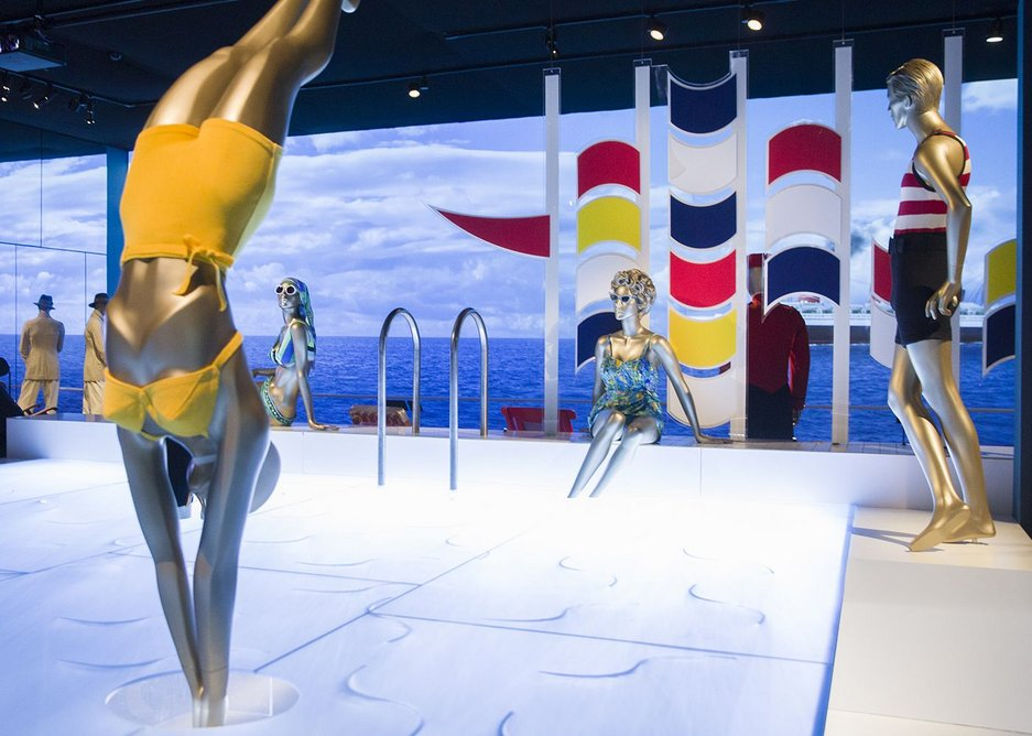 On deck recreation at the V&A exhibition Ocean Liners: Speed and Style, 3 February - 17 June 2018.