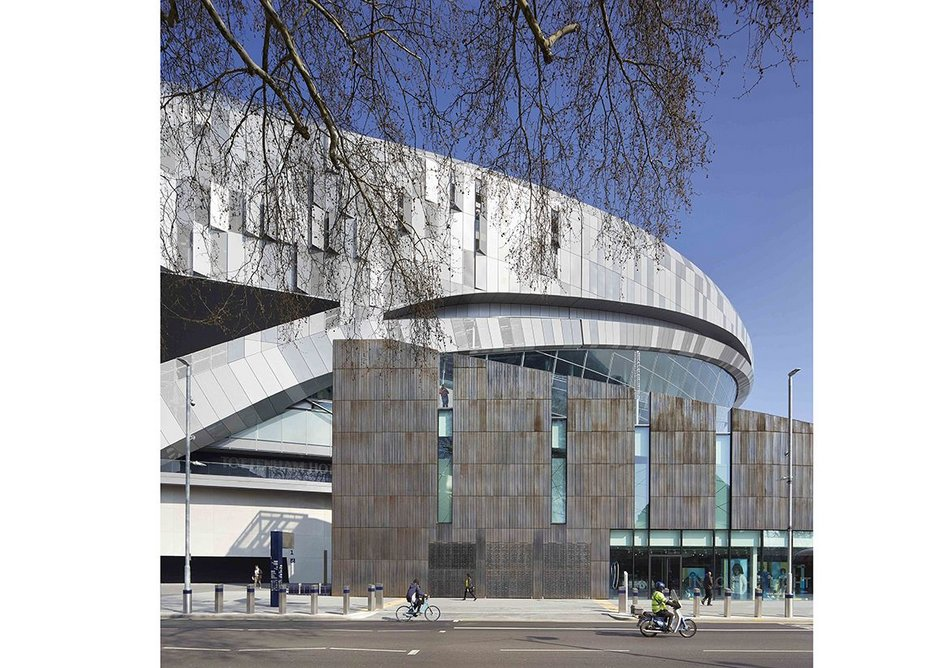 Knutsson-Hall's talent for expressing simple forms is evident in Tottenham Hotspur Stadium, for which she was design architect