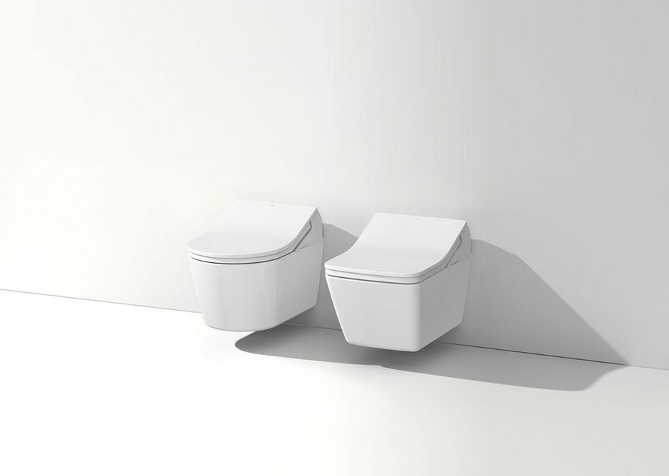 Toto's latest Washlets are pre-programmable for functions including seat adjustment, water temperature and pressure setting.