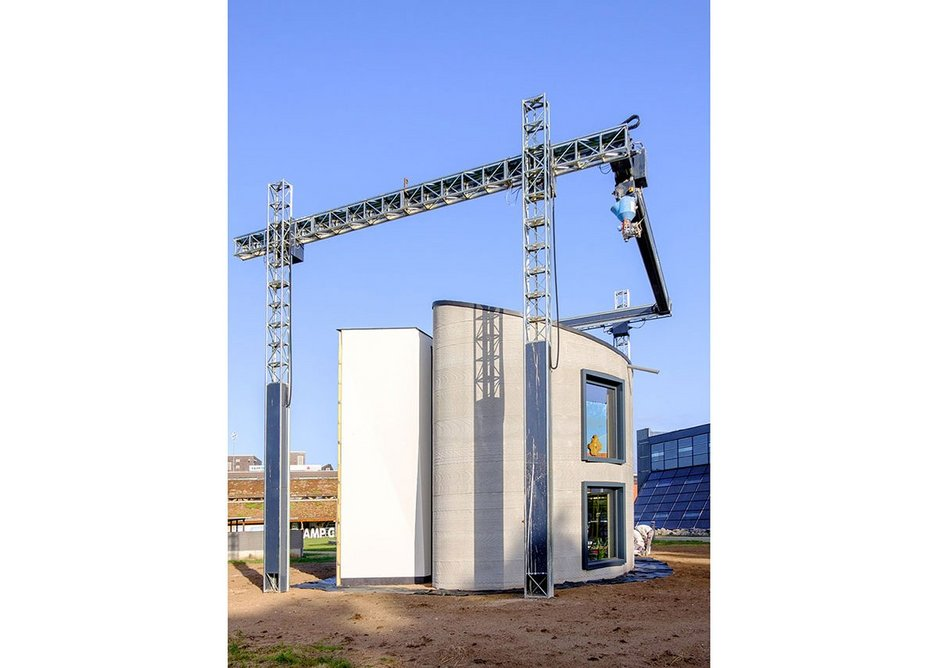 The prototype 90 sq m house was constructed using a BOD2 gantry-style printer measuring 10 x 10m