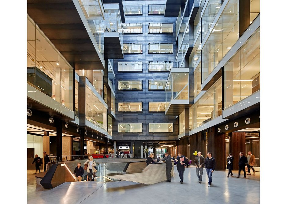 Designed by RHE on the Shoreditch/City of London border, Alphabeta is one of a new breed of multi-tenant office developments.