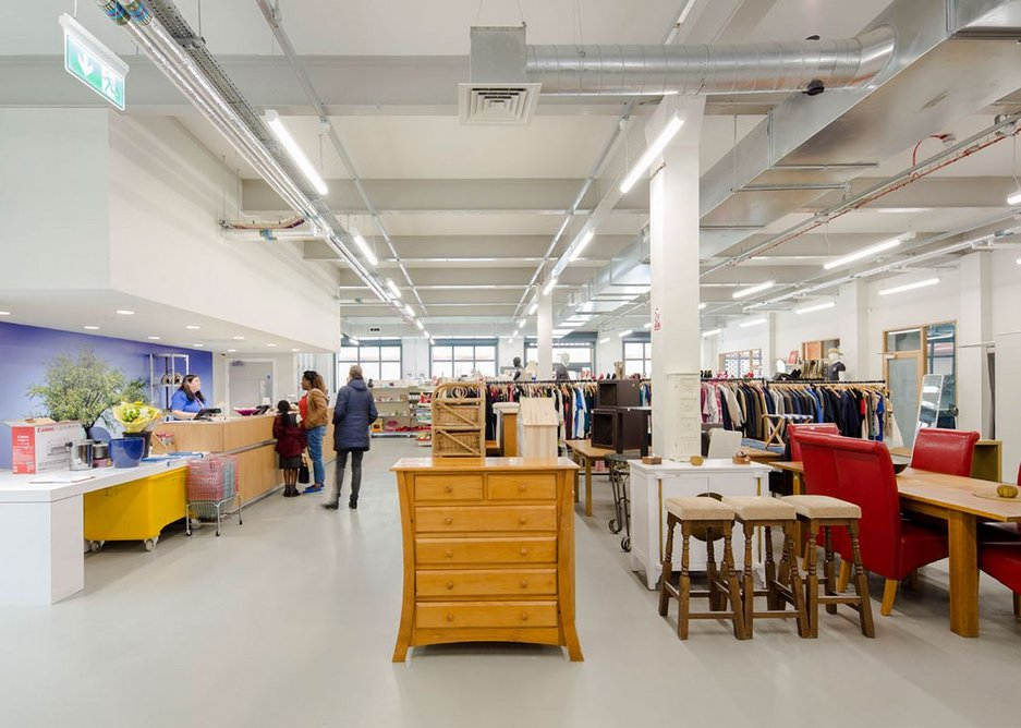 Furniture donations. MacEwen Award 2019 shortlisted Mustard Tree, Ancoats, Manchester by OMI Architects