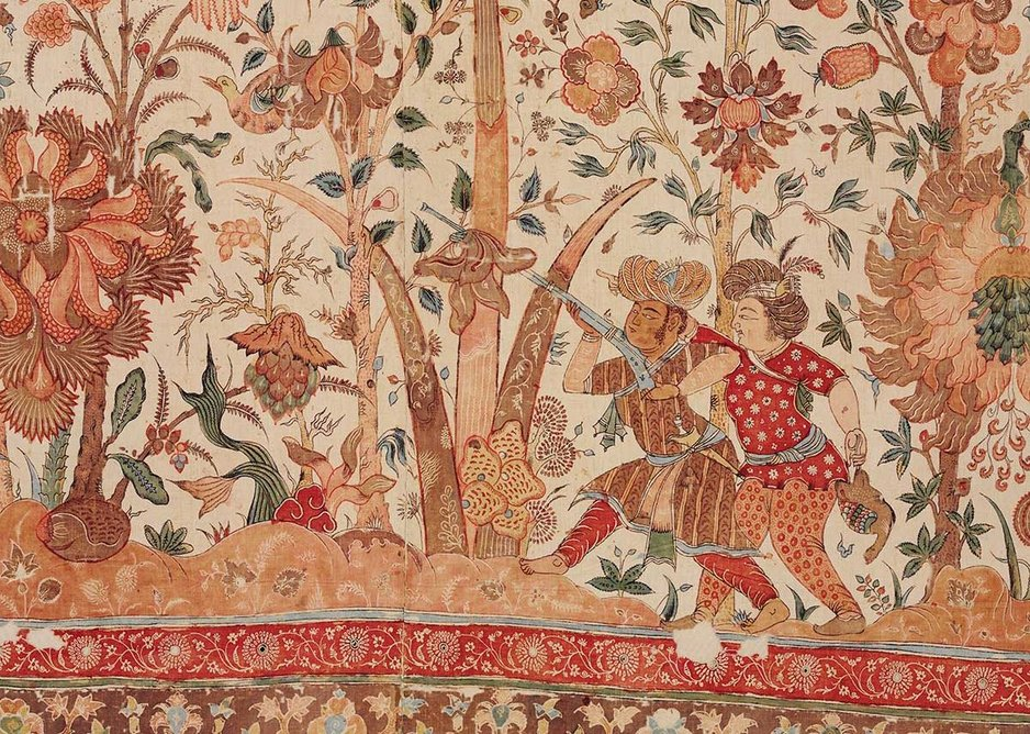 Floorspread painted and dyed cotton Coromandel Coast ca. 1630.
