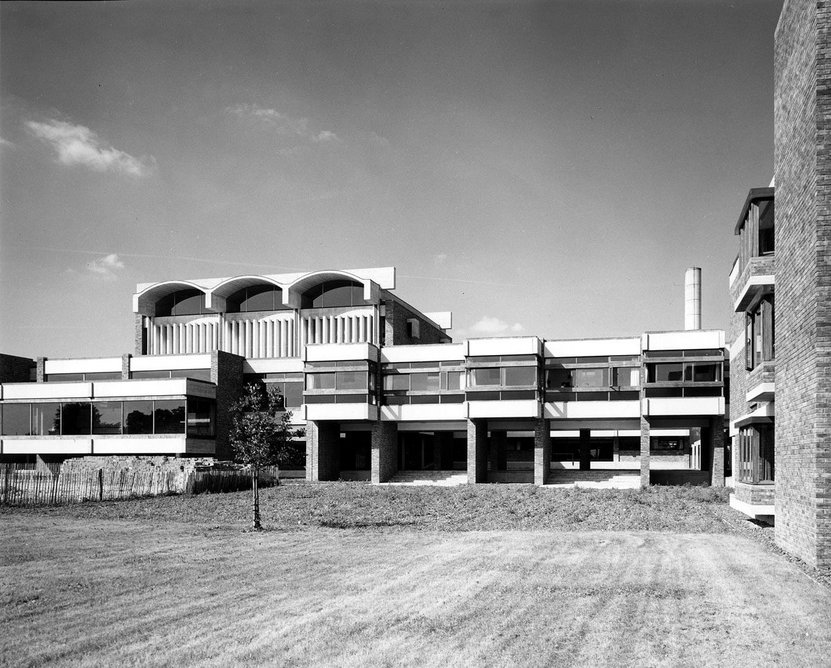 Churchill College Cambridge, designed by Sheppard Robson & Partners, 1964.